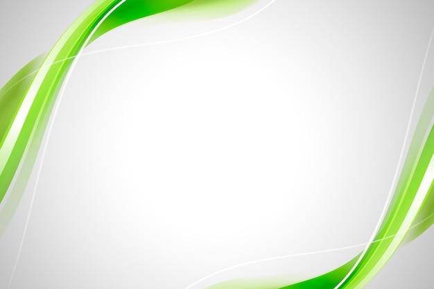 Grüner kurvenrahmenschablonenvektor