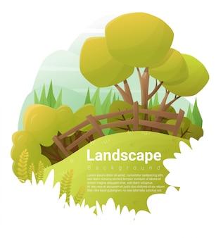 Grüner landschaftshintergrund