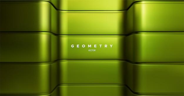 Grüner metallischer architektonischer hintergrund