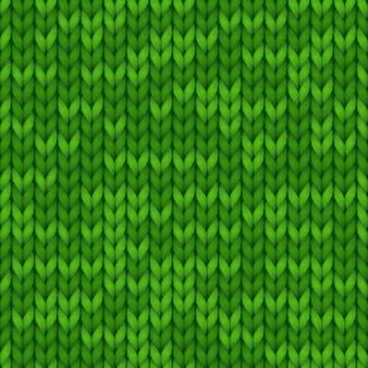 Grüner nahtloser gestrickter hintergrund für banner, tapeten. warmer site-hintergrund.