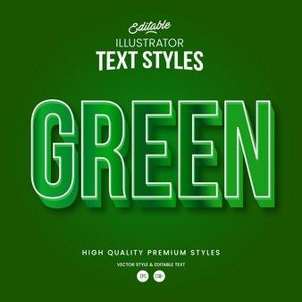 Grüner natürlicher moderner abstrakter texteffekt bearbeitbarer grafikstil