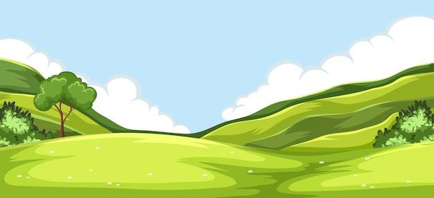 Grüner naturhintergrund im freien