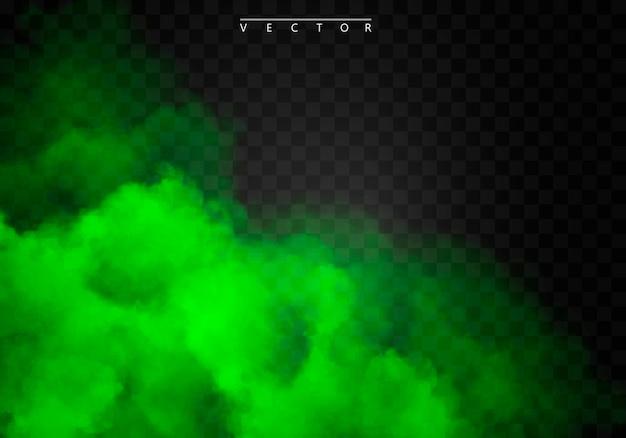 Grüner nebel oder rauchfarbe lokalisierter spezialeffekt.