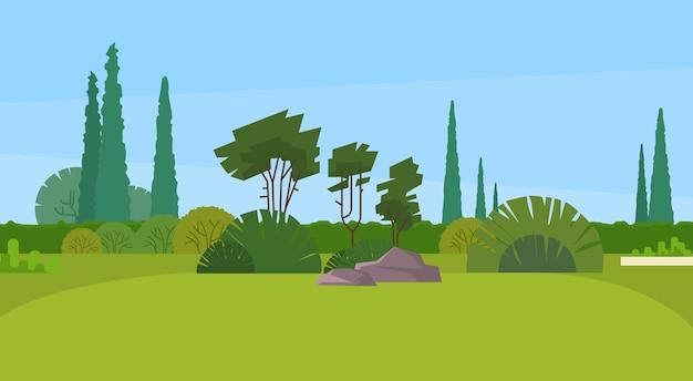 Grüner park forest outdoor naturlandschaft