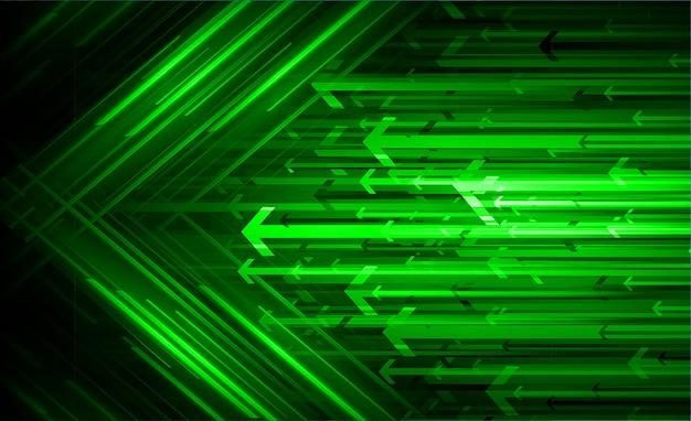 Grüner pfeil heller abstrakter technologiehintergrund