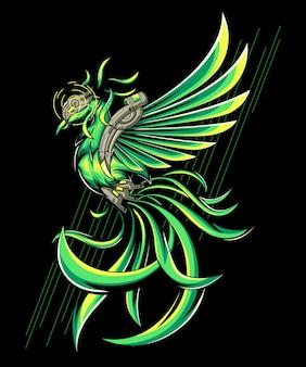 Grüner phönix