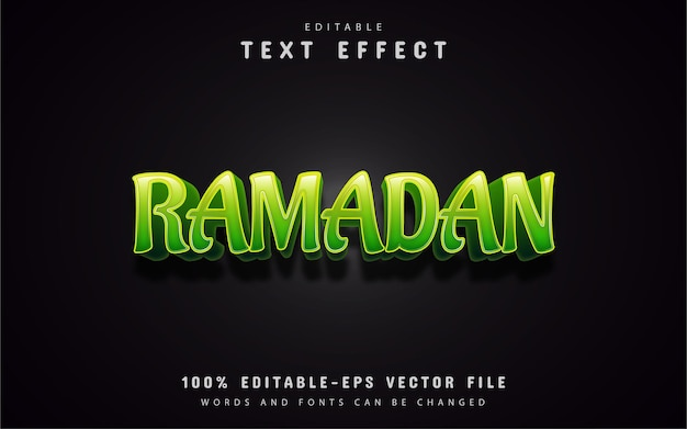 Grüner ramadan-texteffekt