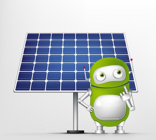 Grüner roboter