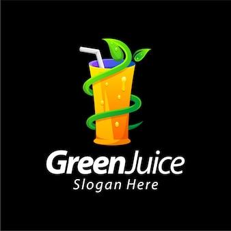 Grüner saft farbverlauf farbe logo design