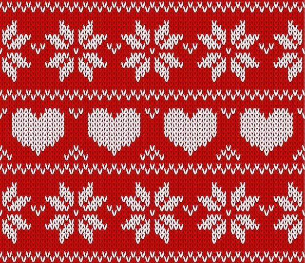Grüner strickpullover im norwegischen stil gestrickter skandinavischer ornament frohes neues jahr frohe weihnachten