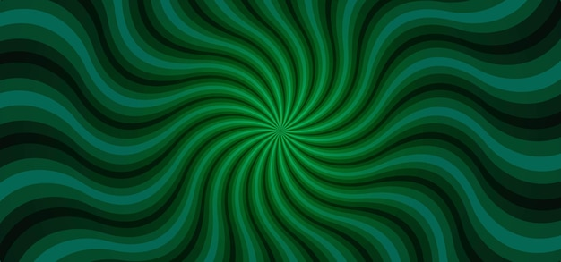 Grüner sunburst wellenstrahlen abstrakter hintergrund