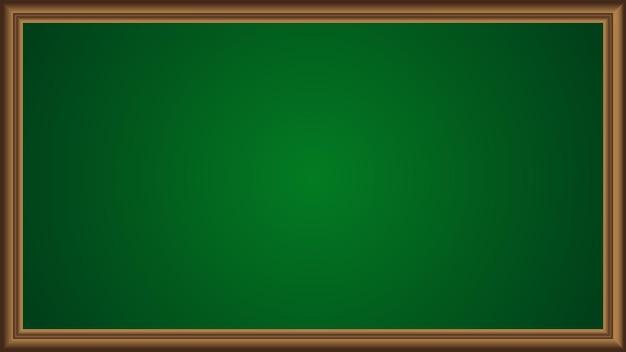 Grüner tafelhintergrund mit braunem rahmen