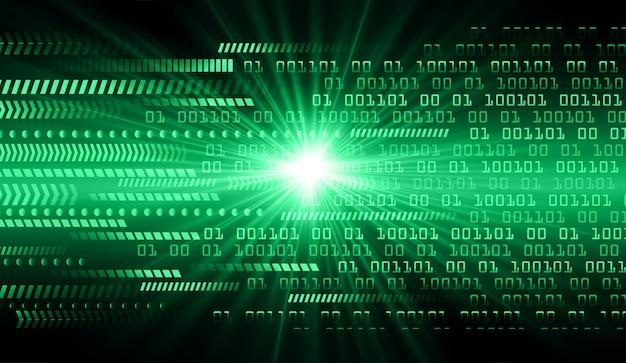 Grüner technologie-konzepthintergrund des cyber-stromkreises binärer code