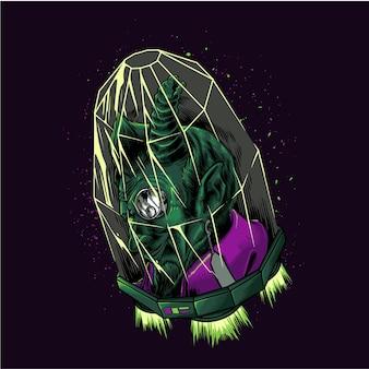 Grüner teufelsvampir