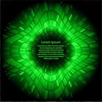 Grüner text abstrakter technologiekonzepthintergrund