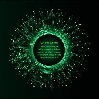 Grüner text abstrakter zukünftiger technologiekonzepthintergrund