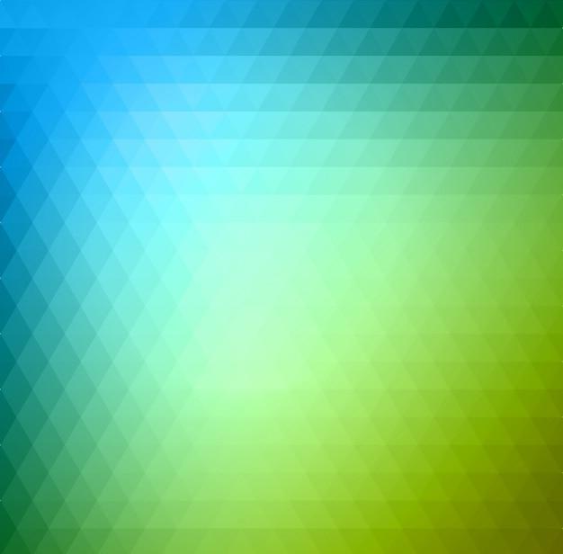 Grüner und blauer hintergrund des abstrakten dreiecks