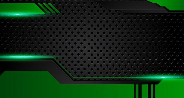 Grüner und schwarzer geometrischer abstrakter unternehmenshintergrund. vektor.