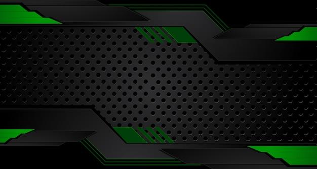 Grüner und schwarzer geometrischer abstrakter unternehmenshintergrund