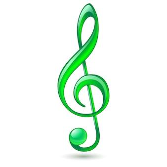 Grüner violinschlüssel