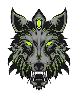 Grüner wolf