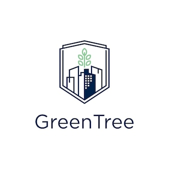 Grünes baumhaus-logo