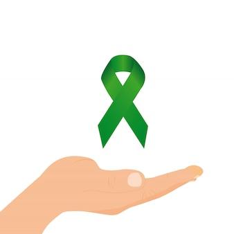 Grünes bewusstseinsband