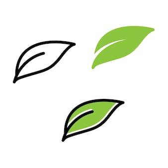 Grünes blatt ökologik-vektor-symbol-logo