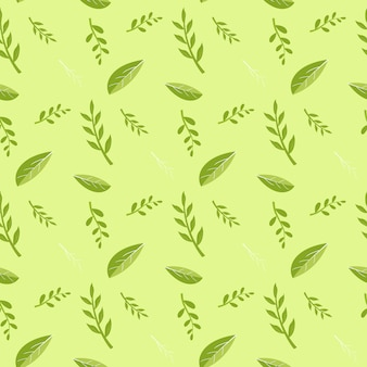 Grünes blatt- und pflanzenstammmuster