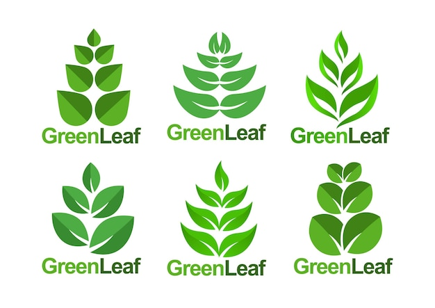 Grünes blattvektorelementdesign
