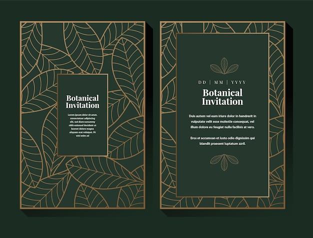 Grünes botanisches einladungsdesign