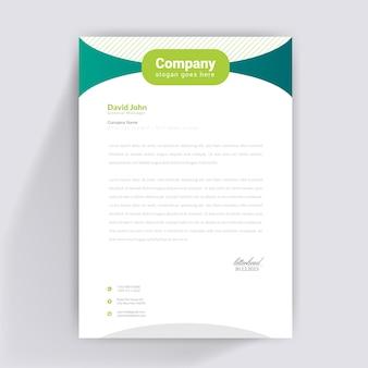 Grünes briefkopf-design Premium Vektoren