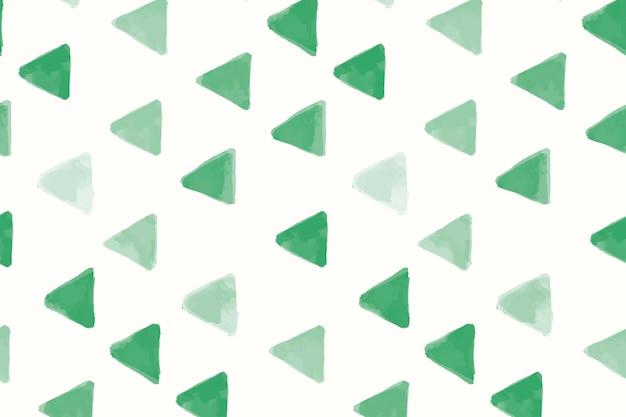 Grünes dreieck geformter nahtloser mustertapetenvektor