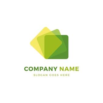 Grünes eco logo design