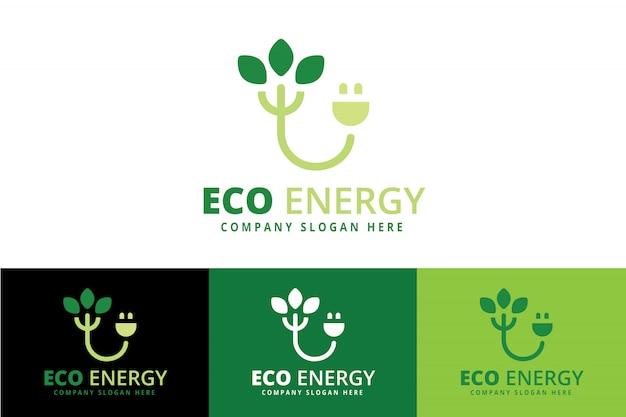 Grünes energie-logo