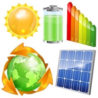 Grünes energie-set