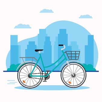 Grünes fahrradfahrzeug