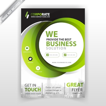 Grünes firmenbroschüre-abdeckungsdesign