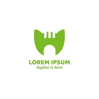 Grünes gastfreundschaft katzenhaus logo