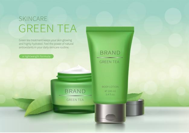 Grünes glas und kunststoffrohr