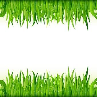 Grünes gras-banner. designhintergrund