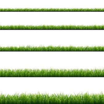 Grünes gras großes set