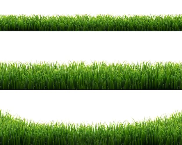Grünes grasrahmen-set