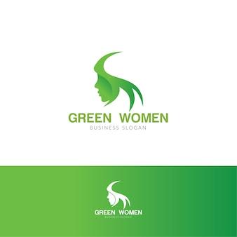 Grünes hijab-frauenlogo