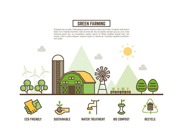 Grünes landwirtschaftskonzept