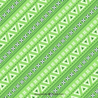 Grünes muster im ethno-stil