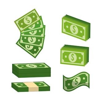 Grünes rechnung dolar geld