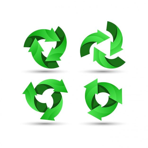 Grünes recycling-logo