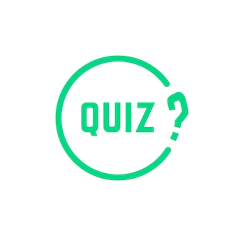 Grünes rundes einfaches quiz-symbol. konzept der lösung, umfrage, auswahl, spielzeit, nachfrager, problem, problem, lösung. flacher stil trend moderne logo-design-kunst-vektor-illustration auf weißem hintergrund