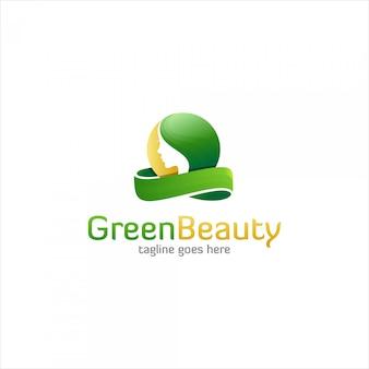 Grünes schönheitslogo